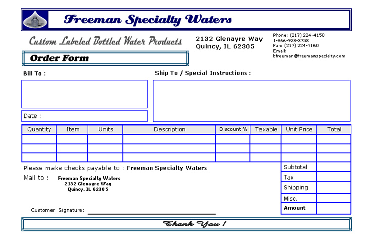 Freeman Specialty Waters SERVICES
